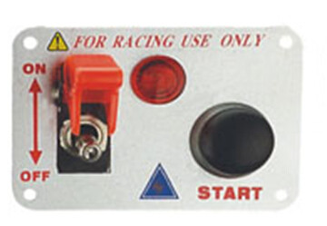 Automotive Racing Switch Panel With Flip Up Cover , Racing Toggle Switch