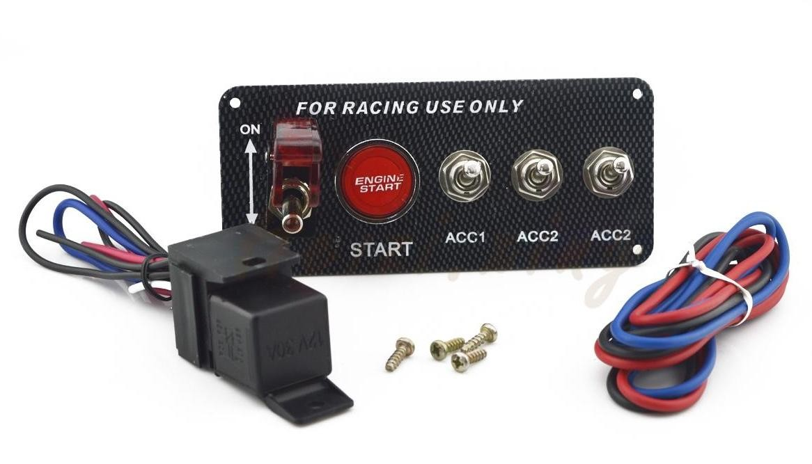 30A Universal Racing Switch Panel For Car , Toggle Starter Switch