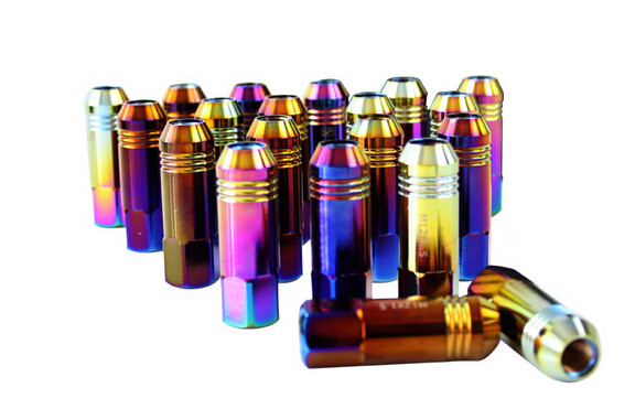 Alloy / Carbon / Stainless Steel Auto Lug Nuts For Rims 60mm , 12 Months Warranty