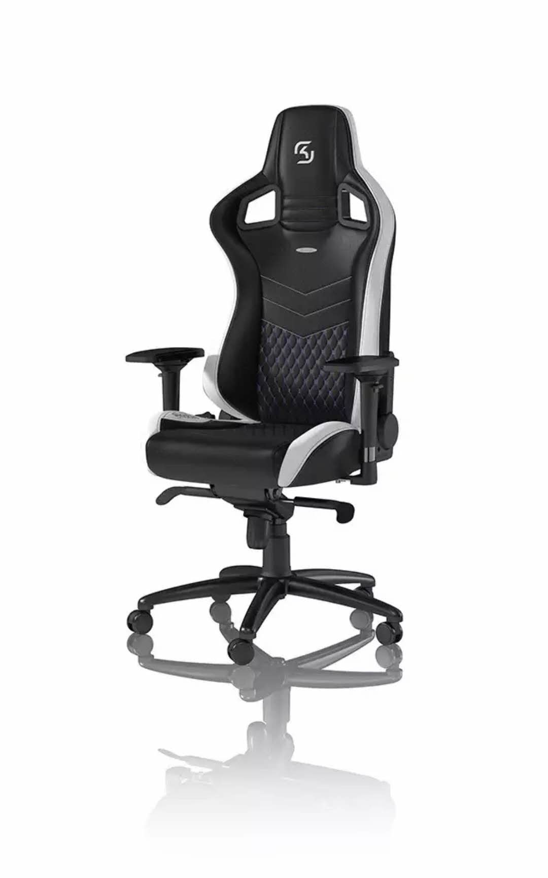2039 Black Single Adjustable Swivel Office Chair Spray Painting Base