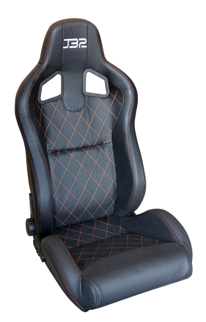 Adjustable Black PVC/PU Racing Seat / Sports Racing Car Seat with single slider