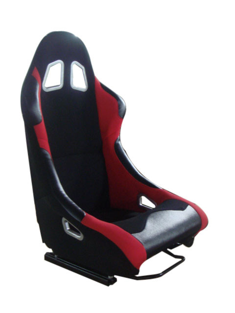 Black And Red Racing Seats With Single Slider / Sports Bucket Seats