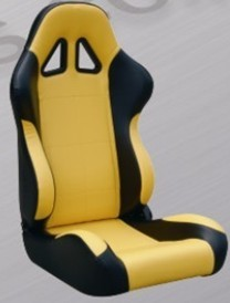 Comfortable Black And Yellow Racing Seats , Custom Racing Seats For Cars